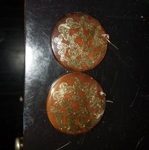 Handmade earrings with butterfly